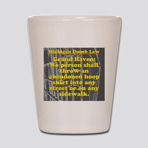 Michigan Dumb Law #5 Shot Glass