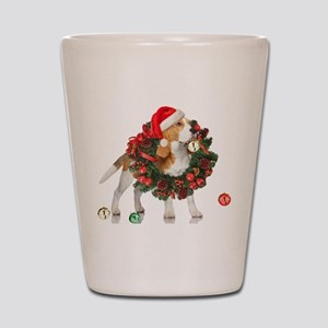 Beagle Christmas Bells Shot Glass