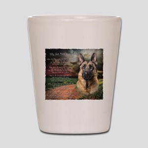 """Why God Made Dogs"" GSD Shot Glass"
