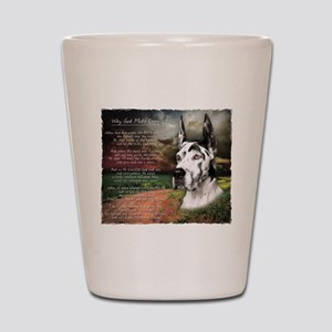 """Why God Made Dogs"" Great Dane Shot Glass"