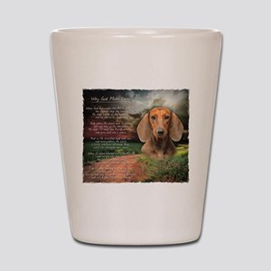 """Why God Made Dogs"" Dachshund Shot Glass"
