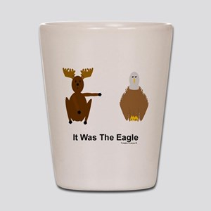Moose Blames Eagle Shot Glass