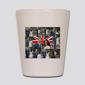 Meghan Markle Prince Harry Royal Weddin Shot Glass
