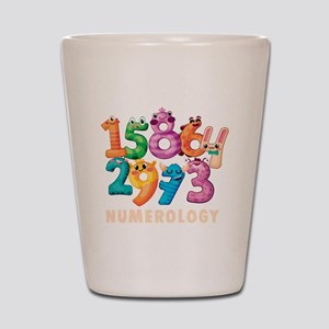 Cute Fortune Teller Numbers Numerology Shot Glass