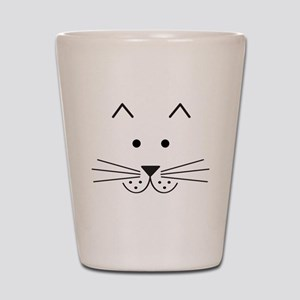 Cartoon Cat Face Shot Glass