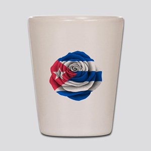 Cuban Rose Flag Shot Glass
