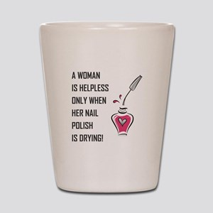 A WOMAN IS... Shot Glass