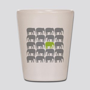 One Green Elephant in the Herd Shot Glass