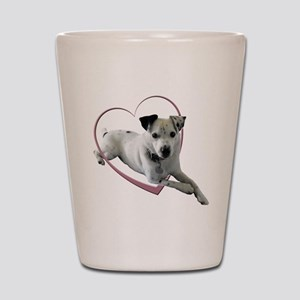 Love Jack Russell Dog Shot Glass