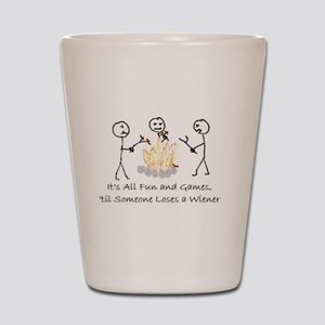 Lost Wiener Shot Glass