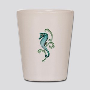 Seahorse in the Seaweed Shot Glass
