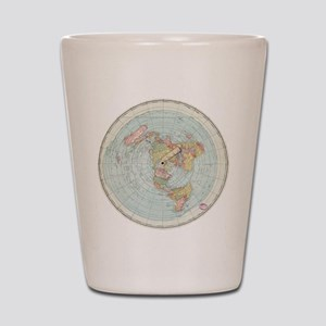 Flat Earth /Gleason's Map 1892 Shot Glass