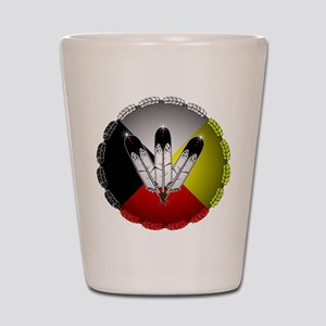 Three Eagle Feathers Shot Glass