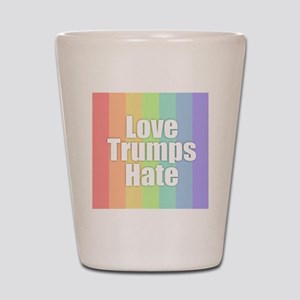 Love Trumps Hate - Rainbow Shot Glass