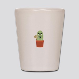Angry cactus with free hugs Shot Glass