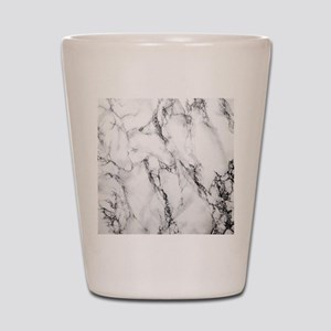 White Marble Shot Glass