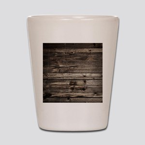 rustic primitive grey barn wood Shot Glass