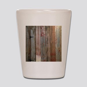 rustic western barn wood Shot Glass