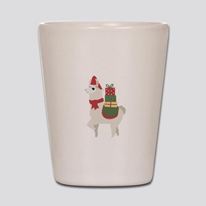 Cute Christmas Llama Shot Glass