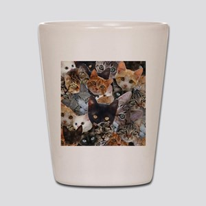 Kitty Collage Shot Glass