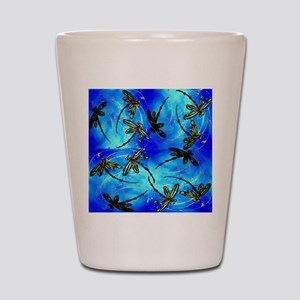 Dragonfly Flit Electric Blue Shot Glass
