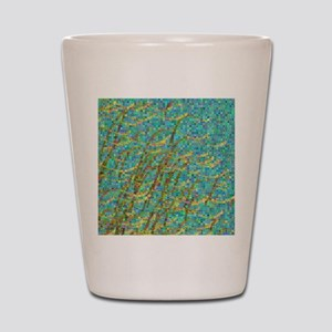 Algae mosaic Shot Glass