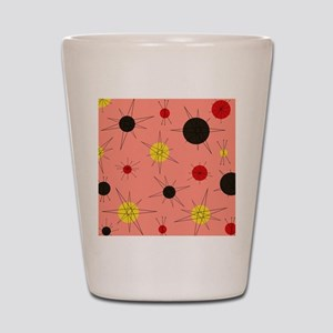 Atomic Era Art (Orange) Shot Glass