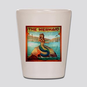 Vintage Mermaid Carnival Poster Shot Glass