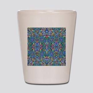 Colorful Abstract Psychedelic Symmetric Shot Glass