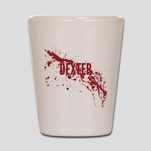 splatter-white-dexter_allover-f Shot Glass