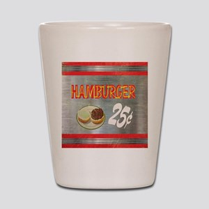 Hamburger 25cents-12 Shot Glass