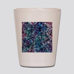 Purple and Teal Marble Watercolor Shot Glass