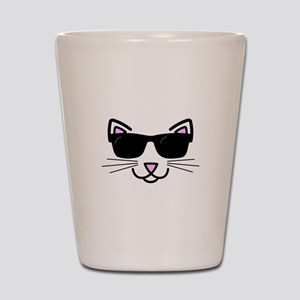 Cool Cat Wearing Sunglasses Shot Glass
