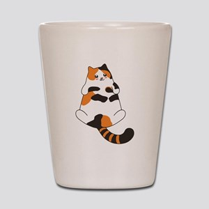 Kawaii Calico Lying Cat Shot Glass