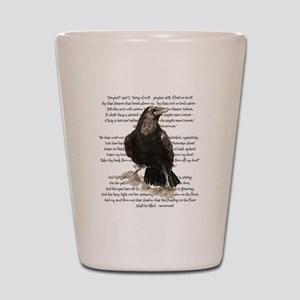 Edgar Allen Poe The Raven Poem Shot Glass