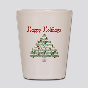 Genealogy NumbersTree Shot Glass