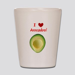 I Love Heart Avocados Guillermo's Fave Shot Glass