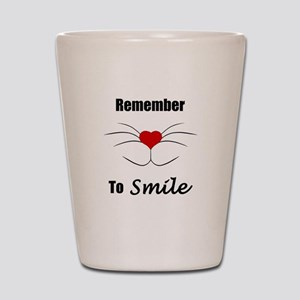 Remember To Smile Shot Glass