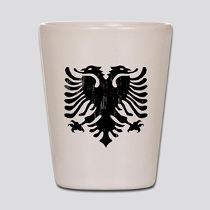 albania_eagle_distressed Shot Glass