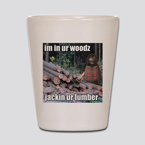 Lumber Jackin Shot Glass