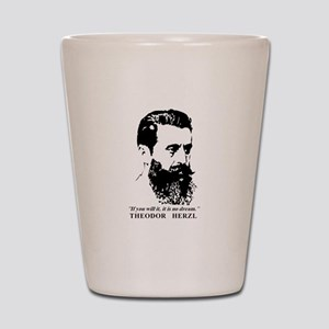 Theodor Herzl - Israel Quote Shot Glass