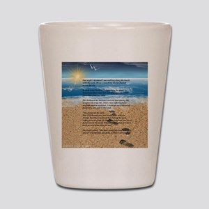Footprints in the Sand Shot Glass