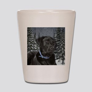 Black Lab Shot Glass