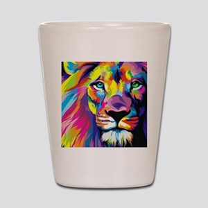 Leo the trippy lion Shot Glass