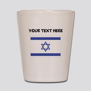 Custom Israel Flag Shot Glass