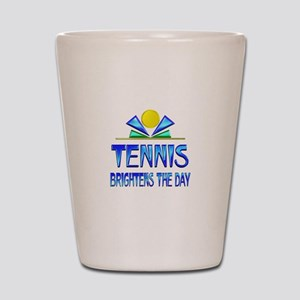 Tennis Brightens the Day Shot Glass