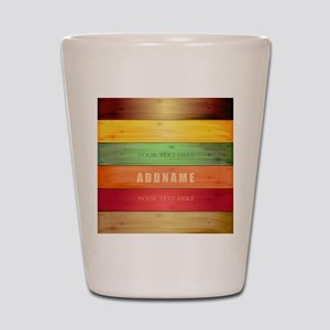 Personalized Colorful Wood Texture Shot Glass