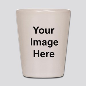 Mens Apparel Image on Back Shot Glass
