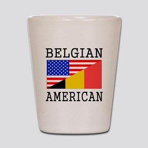 Belgian American Flag Shot Glass