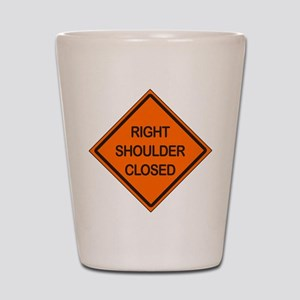 Right Shoulder Closed Shot Glass